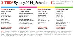TEDxSydney-2014-Agenda